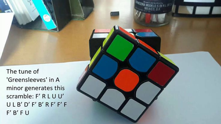 Art from randomness: Rubik's cube music