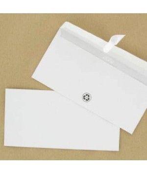 Enveloppe recyclées 110X220 DL - sans fenêtre - auto adhésives - 80G - par 500