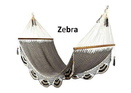 Zebra Luxury Handmade Hammock - Large Size by The Toucan Shop