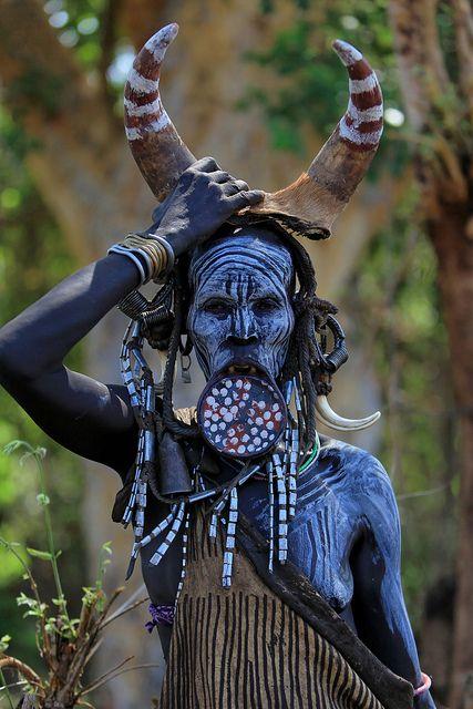 Mursi woman Ethiopia #ravenectar #beautiful #humans #faces #people #face