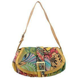 Anuschka 499 Womens Shoulder Handbags, Vintage Bouquet, Size - One Size Trendy, Cute and Luxurious Hand Painted Leather Purses Hand painted leather purses are truly eye-catching, unique and cool. In fact they are currently trending like crazy! Obviously when you combine beautiful hand painted art, on fine quality leather the result is a timeless and charming creation just for you.