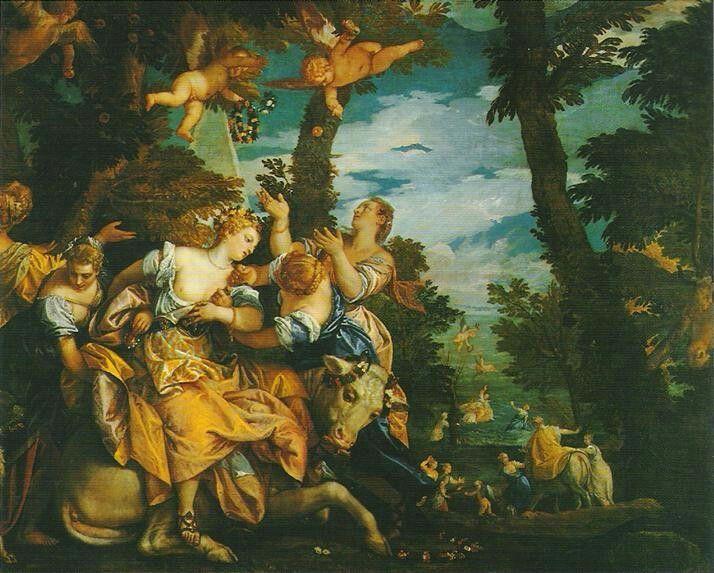 Ratto di Europa. Sala dell'Anticollegio.  1578