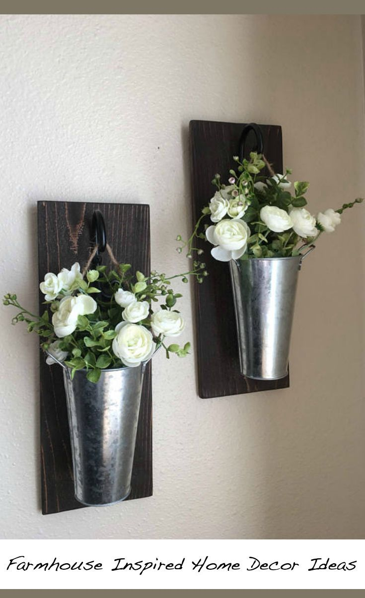 Etsy Rustic Farmhouse Wall Decor This Listing Is For A Farmhouse Inspired Set Of Hanging Galvanized Galvanized Wall Decor Galvanized Decor Rustic Wall Decor