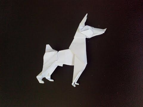 How to make: Origami Dog (Ares Alanya) - YouTube