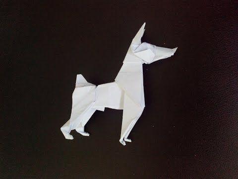 Оригами собака Доберман Пинчер (Ares Alanya), Origami Dog DOBERMAN PINSCHER - YouTube