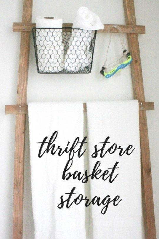 Create this thrift store basket storage in less than 10 minutes!!