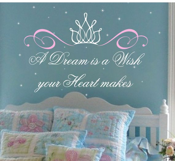 Princess Saying with Crown Wall Decal LARGE Baby by AllOnTheWall, $42.00