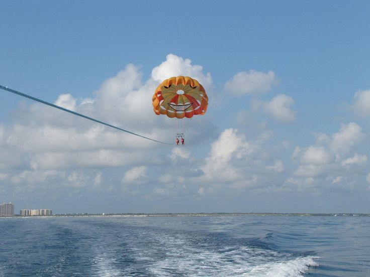 Parasailing at Daytona Beach, FL, in 2003.