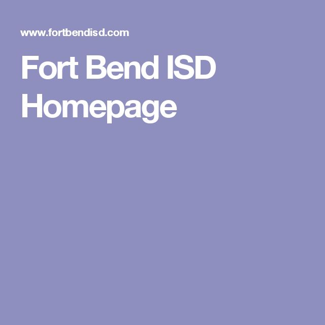 Fort Bend ISD Homepage