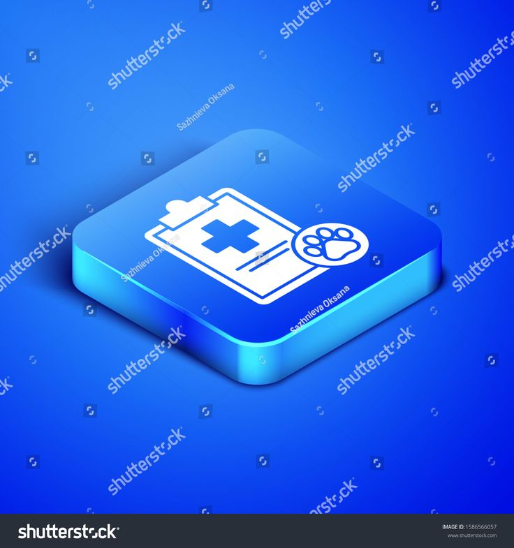 Isometric Clipboard with medical clinical record pet icon ...