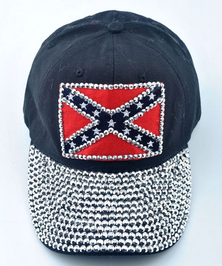 women men rhinestone flag studded denim hats sparkly baseball caps womens with bling