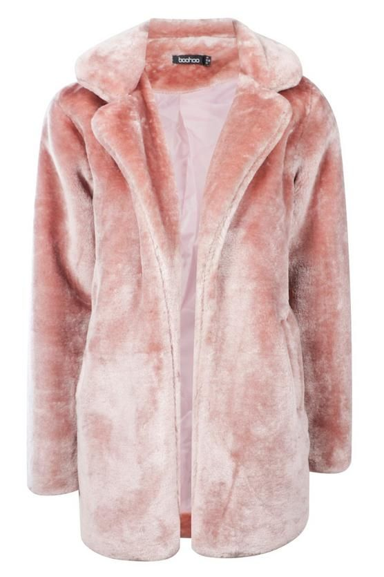 Holly Collared Faux Fur Coat | Boohoo