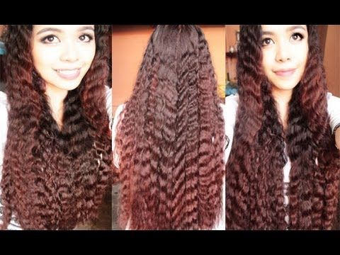 No Heat Summer Crimped Waves 2 quick and Easy Spring And Summer Hairstyles - YouTube
