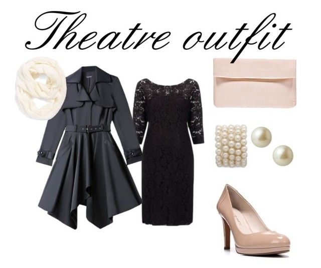 """Theatre outfit"" by kacenka-1 on Polyvore featuring By Malene Birger, Franco Sarto, Carolee, Bebe, Echo, LittleBlackDress, nude and theatre                                                                                                                                                                                 More"