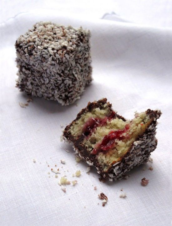 Cherry Ripe Lamingtons ... Aussie rules!