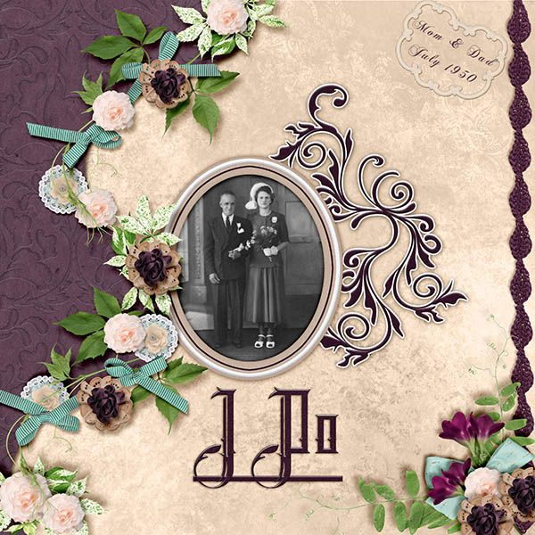 I Do by PattyB Scraps is the new Mixology packs at goDigital Scrapbooking.