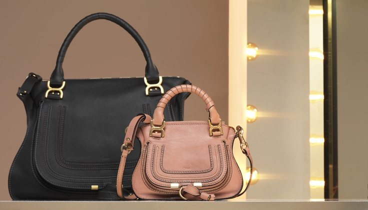 Chloe Marcie medium shoulder bag in calfskin \u0026amp; mini Marcie in soft ...