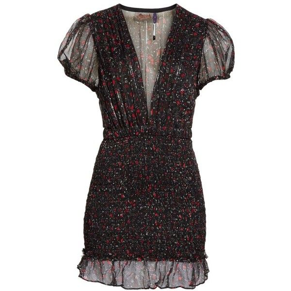 Women's Free People Baby Love Smocked Body-Con Minidress (920 AED) ❤ liked on Polyvore featuring dresses, body con dress, short mini dress, floral bodycon dress, bodycon dresses and sheer floral dress