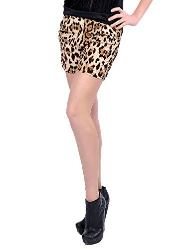 Anna-Kaci Womens Brown Leopard Cheetah Animal Print Pocket Waist Mini Shorts - http://www.darrenblogs.com/2016/09/anna-kaci-womens-brown-leopard-cheetah-animal-print-pocket-waist-mini-shorts/