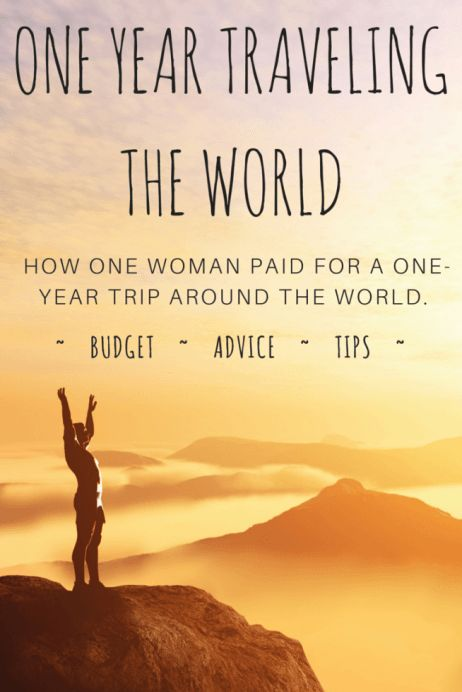 PIN IT! A one-year budget breakdown of costs to travel the world.