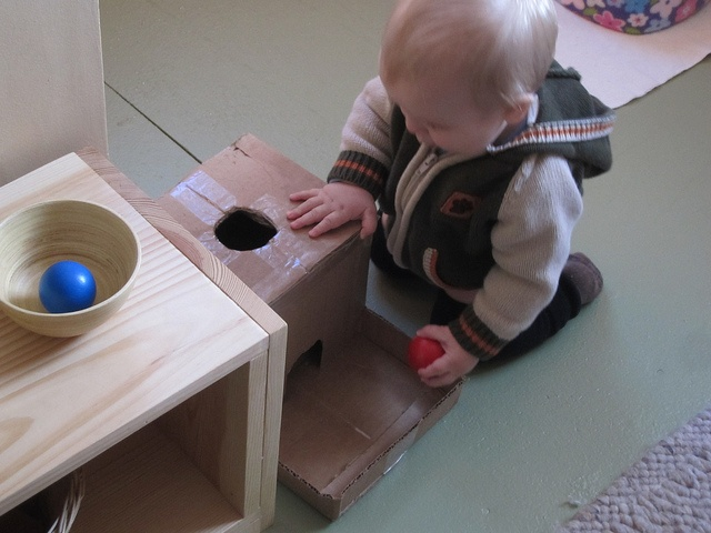 """DIY Montessori """"Object Permanence Box"""" by and parsecs to go, via Flickr"""