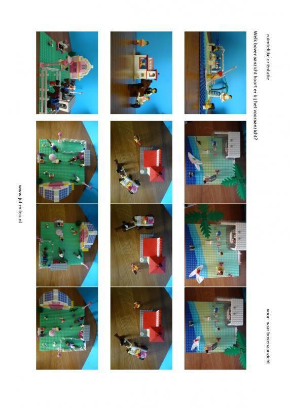 Werkbladen - ruimtelijke orientatie - voor naar bovenaanzicht ~ Juf Milou
