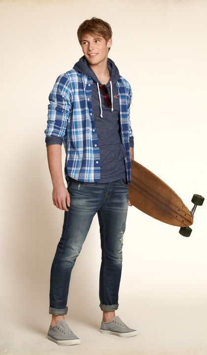 Sophisticated plaids with a relaxed look #Hollister | Raddest Men's Fashion Looks On The Internet: http://www.raddestlooks.org