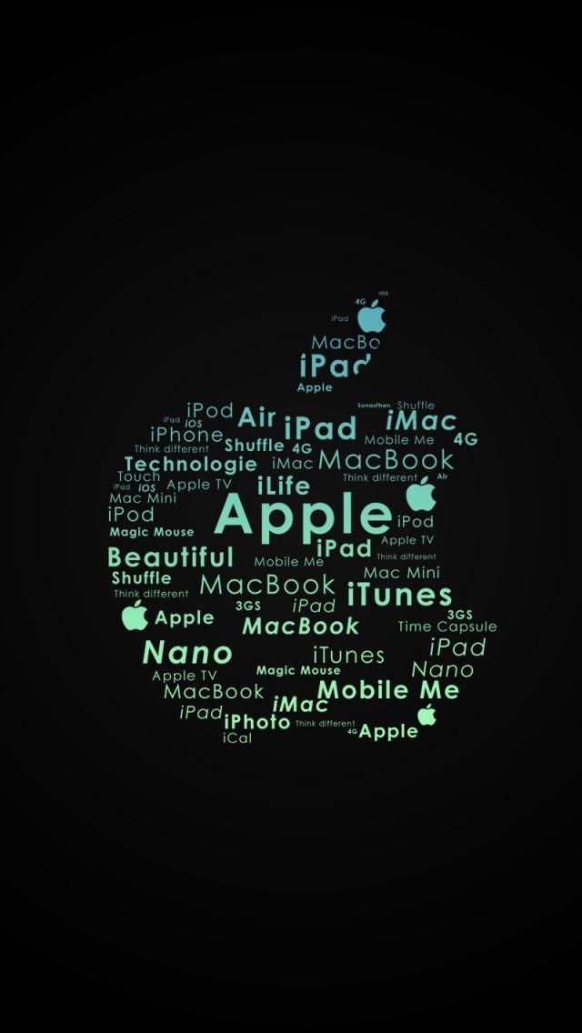 Apple Logo Typography iPhone 5s wallpaper