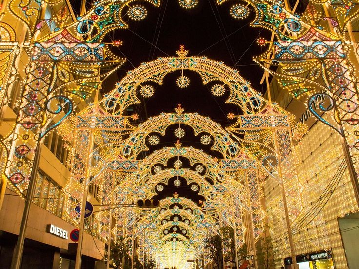 Each year, the town of Kobe, Japan holds a brilliant light show to commemorate the Great Hanshin earthquake of 1995. The theme for the piece changes each year