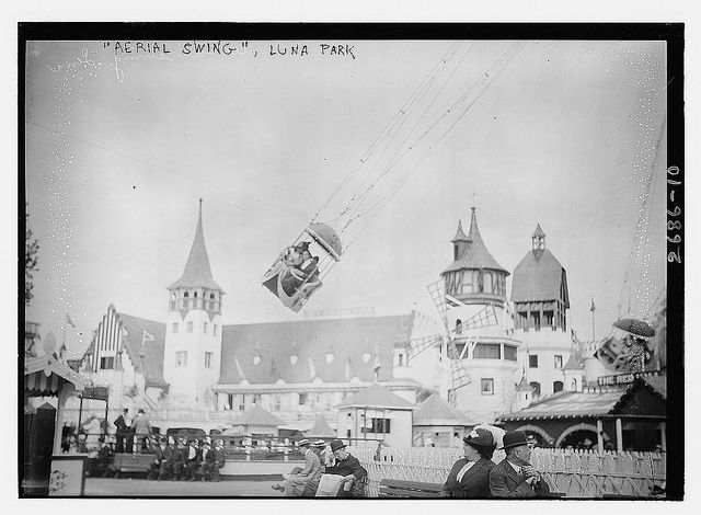 Aerial Swing Luna Park Library Of Congress Collection
