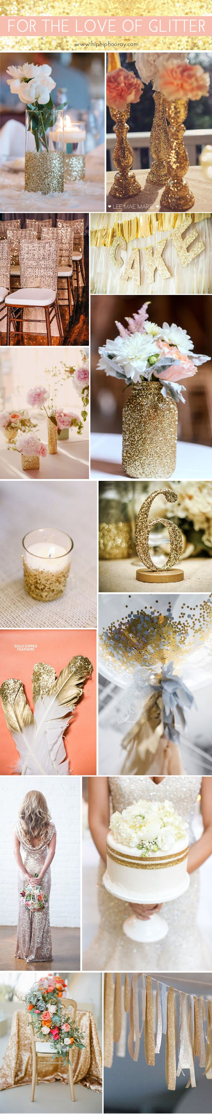 For the love of glitter! Sparkly wedding & event inspiration | Hip Hip Hooray