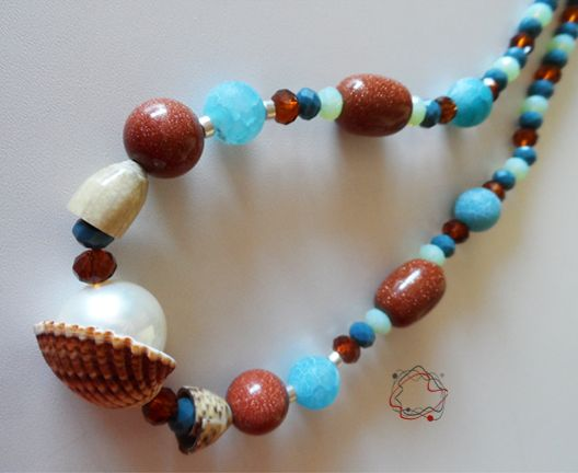 Shell & Crystal Necklace