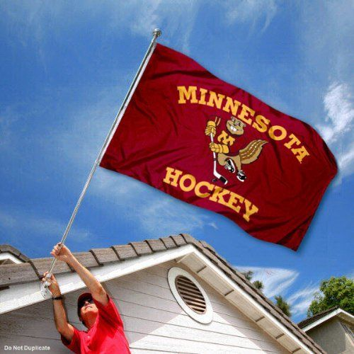 Minnesota Gophers UM University Large College Flag by College Flags and Banners Co.. $29.95. Our Minnesota Golden Gophers Flag measures 3x5 feet in size, has quadruple-stitched fly ends, is made of durable polyester, and has two metal grommets for attaching to your flagpole. The screen printed UM logos are Officially Licensed and Approved by University of Minnesota and are viewable from both sides with the opposite side being a reverse image.