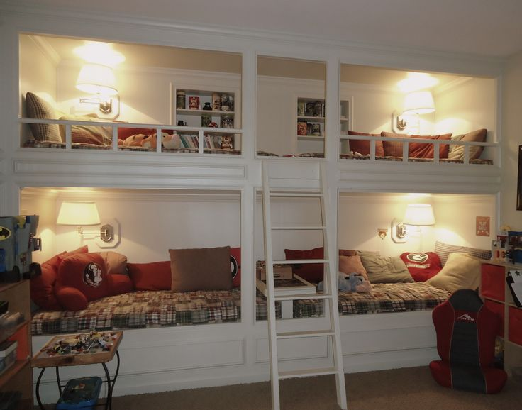 http://www.bing.com/images/search?q=built in loft bed Bookcases!