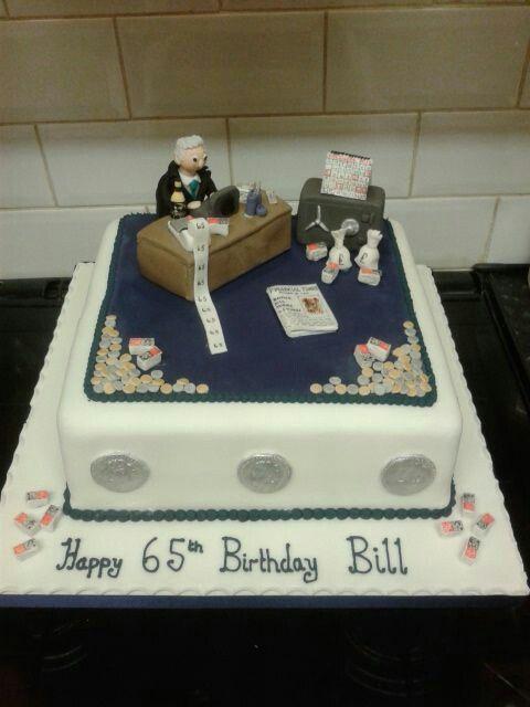 Banker's birthday cake