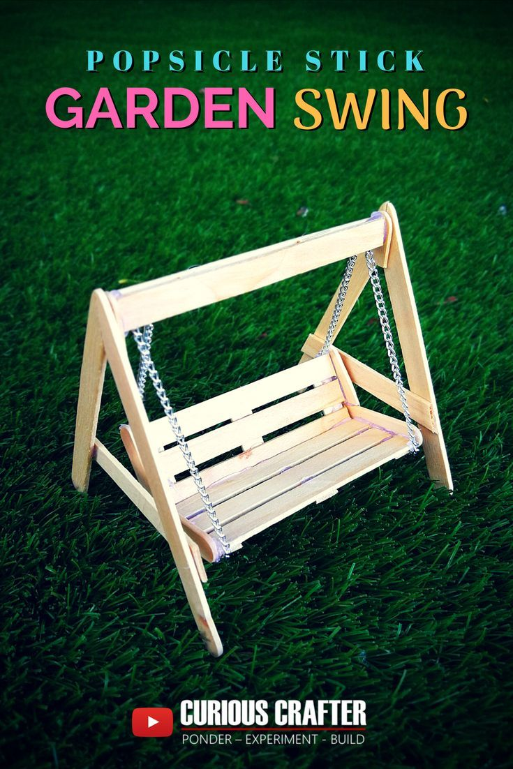Popsicle stick garden bench swing. Step-by-step guide to creating this popsicle