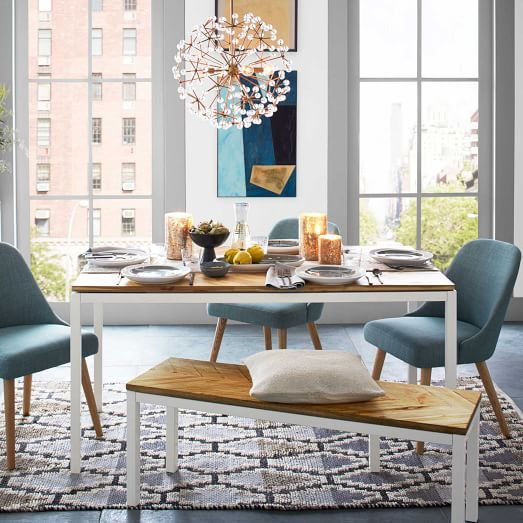 Box Frame Chevron Dining Table