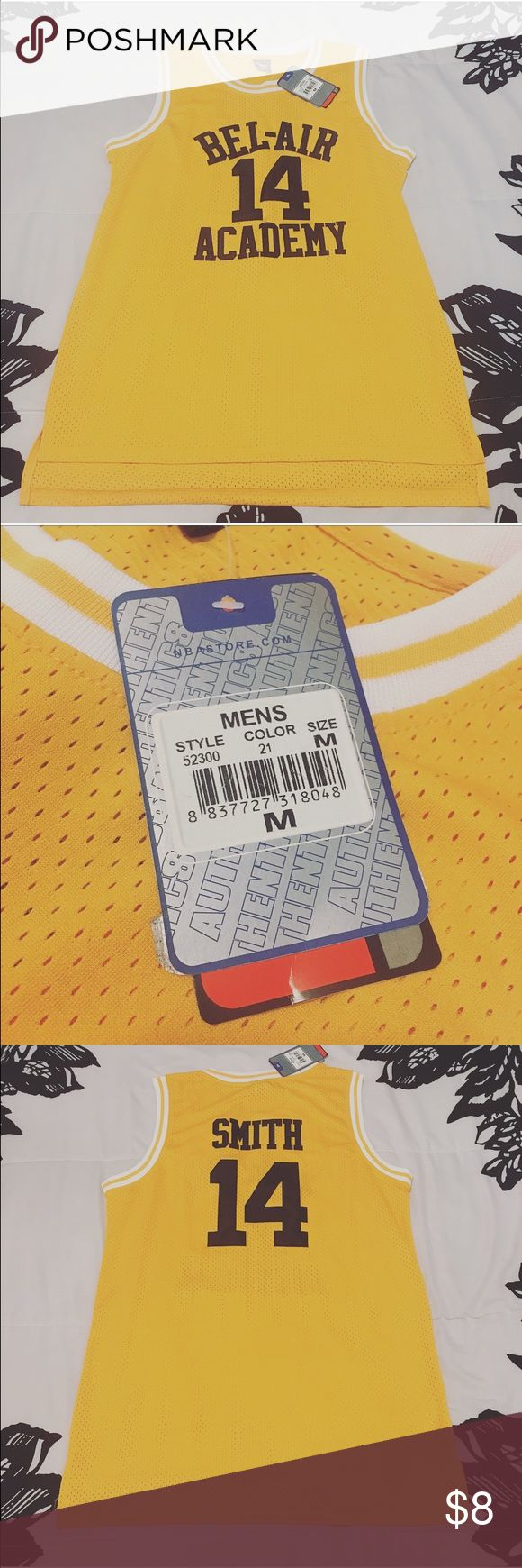 "Fresh Prince Basketball Jersey Fresh Prince Basketball Jersey. Fits like a dress on a 5'7"" medium sized woman, hitting in the mid thigh area. Would be great paired with thigh high tights and a leather jacket. New with tags. Dresses Mini"