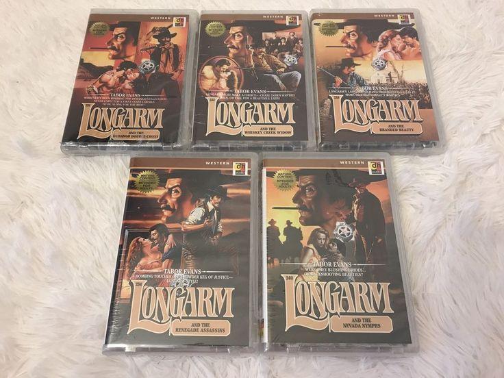 Lot 5 Audio Books on Tape Cassette LONGARM Western Romance Tabor Evans Series