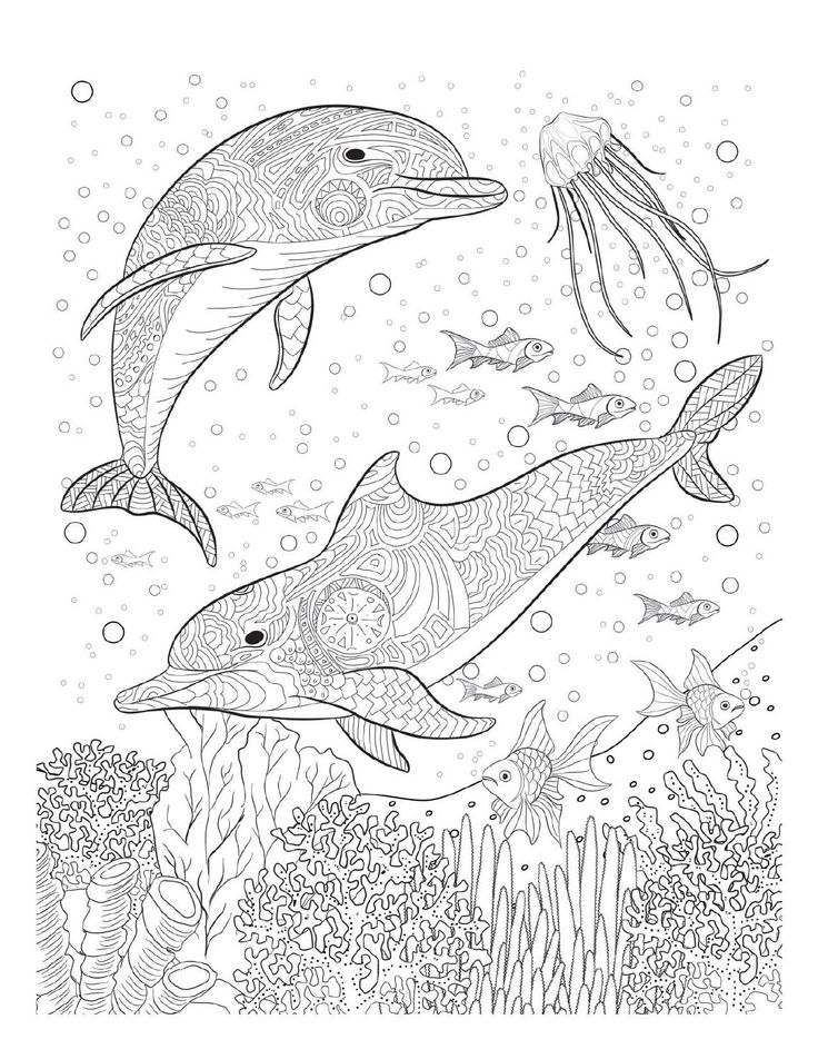 Stress Coloring Pages Animals : Best coloring pages to print underwater images on