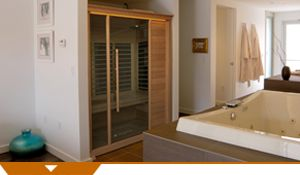 I would like this built into my bathroom. Health Benefits: Infrared saunas are an incredibly effective tool for natural healing. Infrared light penetrates human tissue to produce a host of anti-aging health benefits, making infrared saunas one of the 'hottest' home therapies around. From wound healing to weight loss to wellness, discover how an infrared sauna can help you achieve your goals for a healthier life.