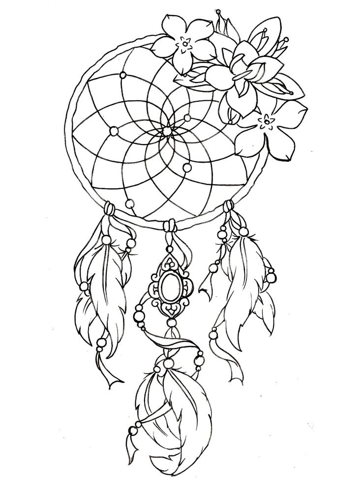 To Print This Free Coloring Page Dreamcatcher Tattoo Designs
