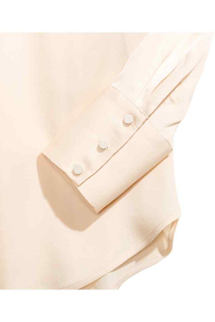 Camicetta a maniche lunghe - Beige chiaro - DONNA | H&M IT