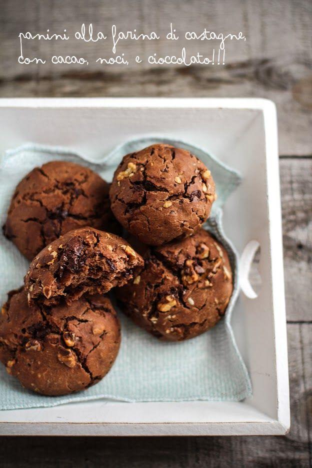 - VANIGLIA - storie di cucina: Panini alla farina di castagne con noci e cioccolato
