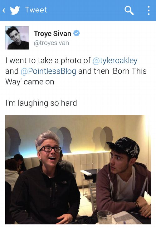 Tyler is representing us when wmyb comes on and Alfie is our friends/fam