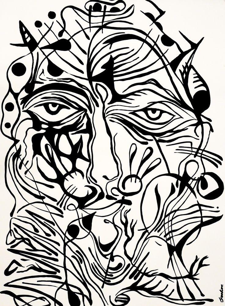 Rafal Michal Szaton, Diablo (2014)  #painting #art #artmarket #limitededition #artistoftheday #fineart #buyart  #popart #polishart #pinmorales #black&white