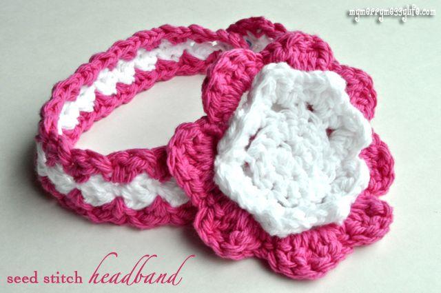 Crochet Seed Stitch Baby Headband {free crochet pattern}