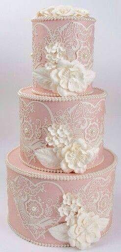 Roze taart.....