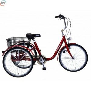 Popal E-Tricycle Red - Stor 3-Hjulings Sykkel kr 9 888,00