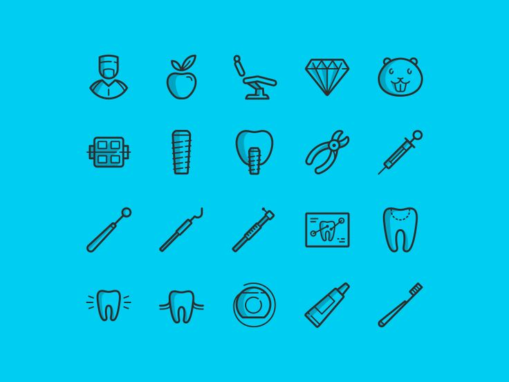 It's free dental icons for personal and commercial use. AI and PSD in attachment.